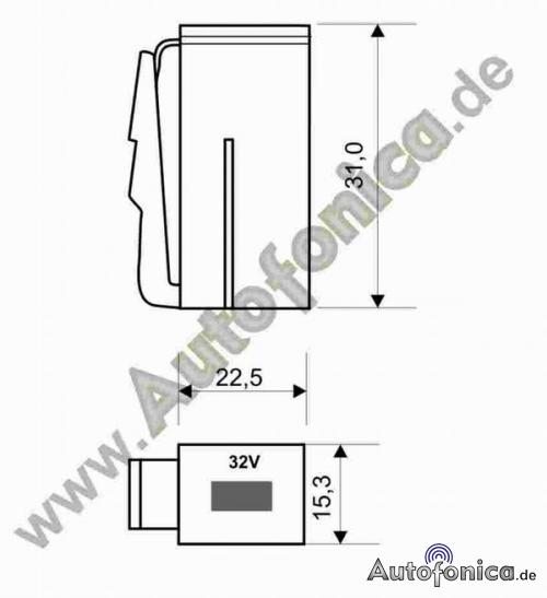 BLISTER VERTEX piatto backup/sicherungsset/Auto/backup auto 10 pezzi Fusibile