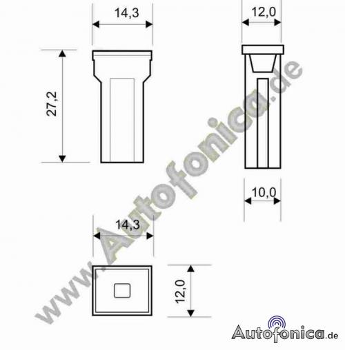 Japón pal bloque copia de seguridad-fusible tipo C 30a//32 V//rosa